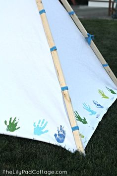 DIY Kids Teepee - and why my mother-in-law is marvelous... - The Lilypad Cottage