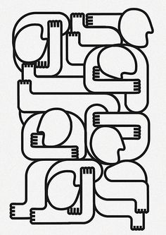 Barclays-Marriot-Veleno-line and line and line and more by Jonathan Calugi, via Behance Line Illustration, Illustrations, Visual Map, Abstract Geometric Art, T Art, Human Art, Pattern Art, Line Drawing, Line Art