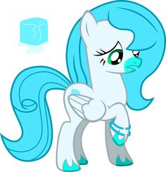 Icy Breeze by NortherntheStar.deviantart.com on @deviantART Details: Icy ( Ice to her friends ) is a shy, sweet pegasus that loves snow. She works as a weather pony.  Preference: none Adopted by: