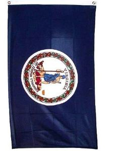 Virginia Flag Polyester 3 ft. x 5 ft. . $0.49