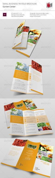 Small Business Tri-Fold Brochure - Garden