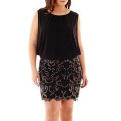 Scarlett Sequin Bottom Blouson Dress - JCPenney