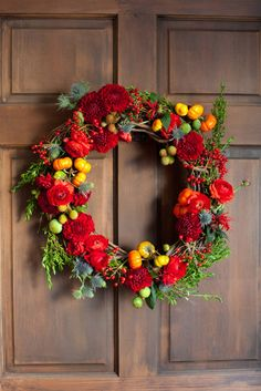 Fall Wreath- maybe without the pumpkins...