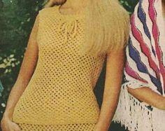Button Bodiced Crochet Dress pattern MS71 by suerock on Etsy