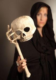 daf9611d397 Skull Opera Mask with Skeleton Arm Realistic Halloween Masks