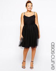 ASOS Curve | ASOS CURVE Exclusive Skater Dress With Tutu Skirt at ASOS