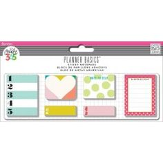 Me & My Big Ideas - Create 365 Happy Planner - Planner Basics Bright Collection - Sticky Notes
