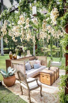Wedding Lounge, Boho Wedding, Floral Wedding, Dream Wedding, Outdoor Rooms, Outdoor Gardens, Outdoor Furniture Sets, Cafe Design, House Design