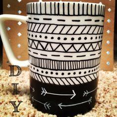 DIY mug @Ashlea Hudson don't be surprised if you get this for Christmas!
