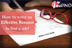 Tips On How To Write An Effective Resume  Jobrino  Job