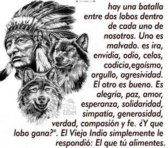 Hay una batalla entre dos lobos dentro de cada ...................... Native American Animals, Native American Indians, Wolf Pictures, Beautiful Wolves, Lone Wolf, Werewolf, Life Quotes, Photo And Video, Instagram