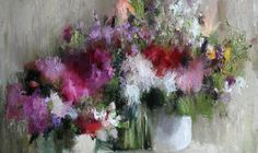 """Nikolay Blokhin  """"Flowers""""   95x150 cm, oil on canvas. 2011"""