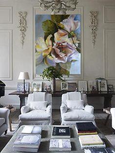Diana Watson art work 'Gabrielle' in a beautiful Parisian room
