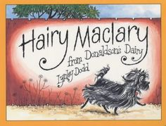 Hairy Maclary From Donaldsons Dairy Book by Lynley Dodd. Hairy Maclary goes off for a walk with a few of his friends - and comes up against a nasty surprise in the shape of Scarface Claw! My favourite character is Schnitzel Von Krumm! Best Children Books, Childrens Books, Young Children, Children Songs, Toddler Books, Book People, Thinking Day, Thing 1, Great Books