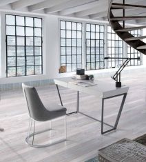 57 Attractive Contemporary Home Office Furniture Design - Go DIY Home Contemporary Home Office Furniture, Home Office Furniture Design, Contemporary Desk, Office Interior Design, Office Interiors, Office Designs, Bureau Design, Italian Furniture, Design Moderne
