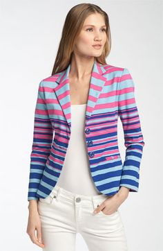 Really like this blazer! Great with white or the new royal blue color that so many jeans & khakis come in now.