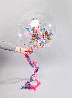Confetti filled balloons by BonBon