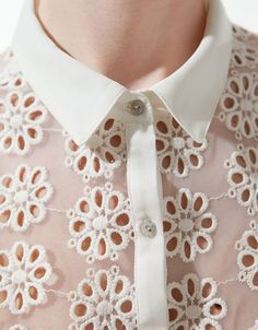 SHIRT WITH EMBROIDERED FLOWERS - Shirts - Woman - ZARA United States