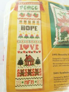 Vtg The Creative Circle Embroidery Kit 2401 Symbols of the season Bellpull NOS #TheCreativeCircle