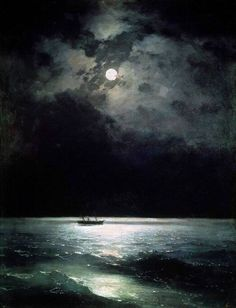 "art-is-art-is-art: ""The Black Sea at Night, Ivan Aivazovsky """
