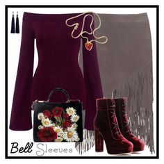 """""""Street Style Trend: Bell Sleeves"""" by winscotthk ❤ liked on Polyvore featuring True Religion, Finders Keepers, Jimmy Choo, Dolce&Gabbana, Kenneth Jay Lane and Lanvin"""