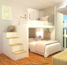 Adorable 43 Affordable Girls Bedroom Design Ideas For Small Rooms To Try Cute Bedroom Ideas, Modern Bedroom Decor, Girl Bedroom Designs, Stylish Bedroom, Awesome Bedrooms, Cozy Bedroom, Bed Ideas, Bedroom Kids, Bedroom Ideas For Small Rooms For Girls