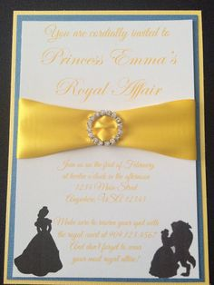 Beauty And Beast Inspired Bridal Shower Invitation Belle Dress Princess Party The Wedding Lizzie