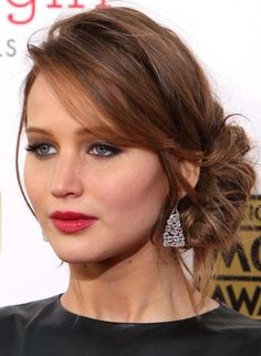 Wedding Hairstyles Chignon women hairstyles for fine hair sexy shorts. Party Hairstyles, Hairstyles With Bangs, Trendy Hairstyles, Braided Hairstyles, Hairstyles 2016, Fashion Hairstyles, Holiday Hairstyles, Black Hairstyles, Red Carpet Hairstyles