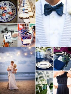 Today's board features many navy inspiration ideas, I love the color paired against white and the blue of the sea and sky! Greek Wedding Traditions, Wedding Inspiration, Wedding Ideas, Greece Wedding, Wedding Decorations, Table Decorations, Color Pairing, Something Blue, Blue Wedding