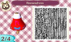 My design; Reese's dress <3 #acnl #qrcode