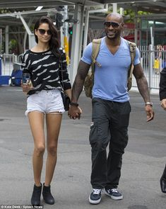 Reunited: Shanina Shaik and her boyfriend Tyson Beckford were reunited at Sydney airport o...
