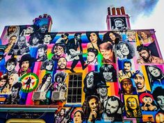 """This is the remarkable Prince Albert mural in Brighton. The Prince Albert is an iconic pub by the train station and was originally know for it's Banksy """"Kissing Police"""" mural but now it also has this amazing wall of deceased icons.  How many on there do you think you can name?   #MySundayPhoto #VisitBrighton #photosofbrighton #lovebrighton #visitsussex #igbrighton #streetart #street #streetphotography #sprayart #urban #urbanart #urbanwalls #graffitiigers #stencilart #art #graffiti…"""