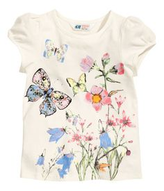 Top ///Art.No. 75-4849/// size: 1-2Y color: Natural white/// Price: $4.95 /// H and M/// http://www.hm.com/us/product/00789?article=00789-G