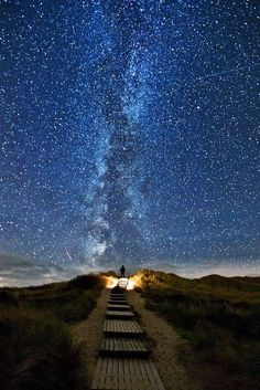 There is a place in Ireland where every two years on June 10-18 the stars line up with this place. It's called heavens trail.