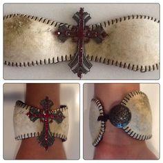 Vintage Baseball Bracelet by BaseballBling31 on Etsy, $28.00