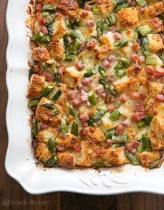 Ham and Asparagus Strata Recipe | Simply Recipes