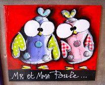 Piou...Piou!!!!!! - Carine MOUGIN Artiste Peintre Boutikatelier Nancy