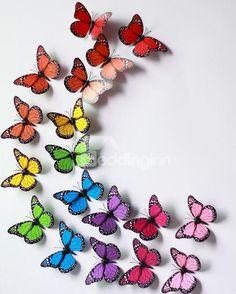 Hot Selling 3D Beautiful Butterflies 9-piece Wall Stickers