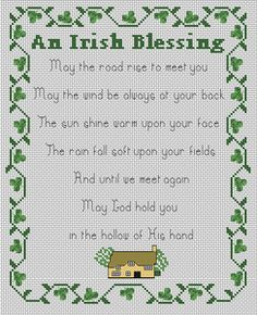 stitchery patterns irish blessing | Celtic Obsessions Irish Blessing Cross Stitch Pattern