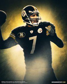 Ben Roethlisberger, Pittsburgh Steelers   Sport Art   Designing Sport