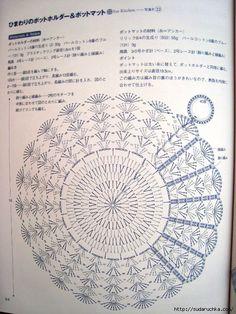 Life with Motifs----钩编生活情趣 Free Mandala Crochet Patterns, Crochet Circles, Crochet Diagram, Crochet Motif, Crochet Doilies, Crochet Cushion Cover, Crochet Cushions, Crochet Carpet, Crochet Home