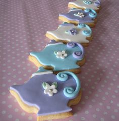 Teapot Cookies by Sweetcheeks Cookies and Cakes - Danielle, via Flickr