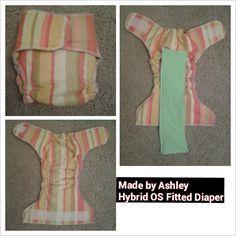 My friend Ashley's cloth diaper she made for my son