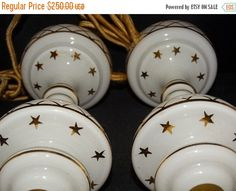 ON SALE Vintage Czech White Glass by TheIDconnection on Etsy