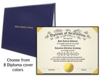 For Schools with Multiple Graduates: Ready-to-Print Diplomas with Covers