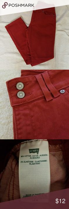 Levis skinny jeans Super cute and colorful skinny jeans in dark red. Levi's Jeans Skinny
