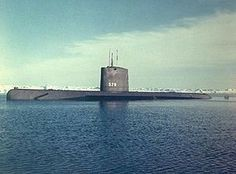 USS Skate USN first production run of nuclear powered submarine.  She was also the first US submarine to surface at the North Pole, 17 March 1959.