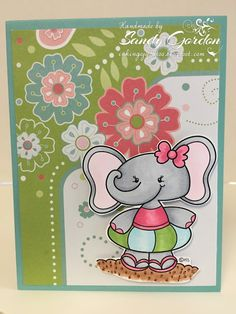 Sandy Gordon:  Inking Of You Too: Cupcakes Inspiration Challenge CIC366 - 7/10/16.  (Pin#1: 2 Cute Digis).  Pin+: Summer Fun; Animals; Children: Girls).
