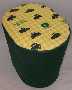 Quilted Green/Yellow Tractor Keurig 2.0 K300-K500 Coffee Brewing Systems Cover