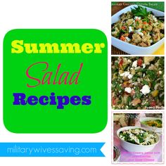 10 Delicious Summer Salad Recipes #homemade #recipes #salads